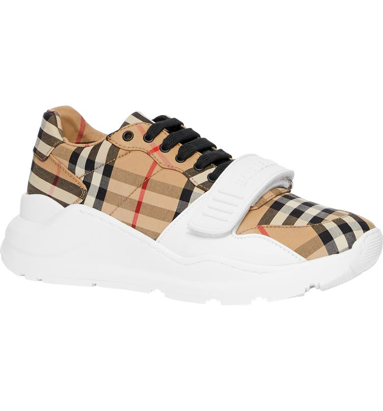 BURBERRY Regis Vintage Check Lace-Up Sneaker, Main, color, 252