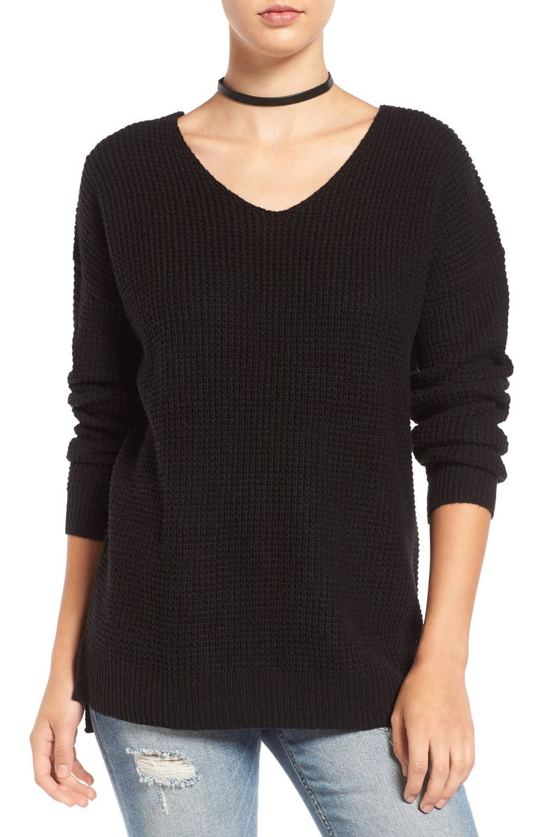 BP. Texture Knit Pullover, Main, color, 001