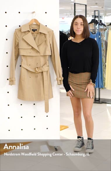Double Breasted Trench Coat with Removable Hood, sales video thumbnail