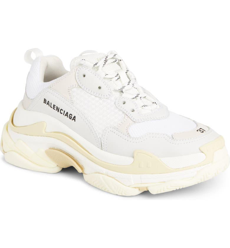 BALENCIAGA Triple S Low Top Sneaker, Main, color, 104