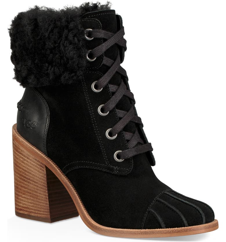 UGG<SUP>®</SUP> Jaxon Cuff Bootie, Main, color, 001