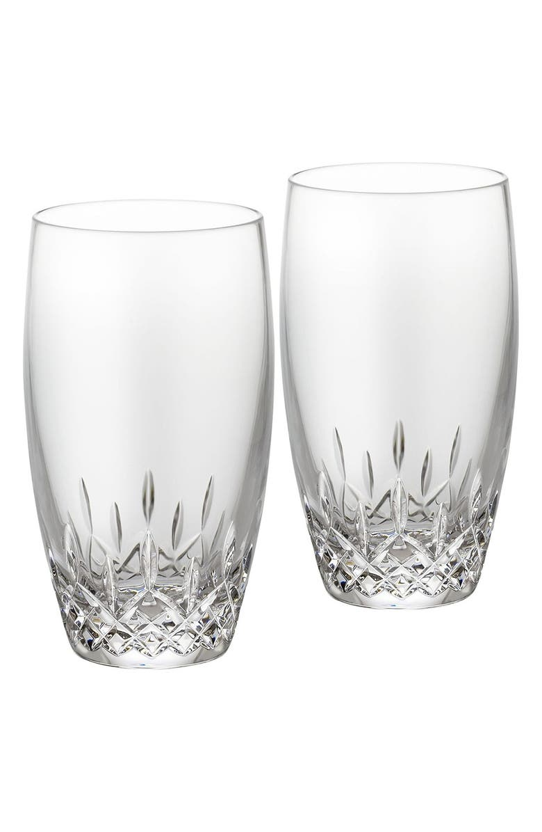 WATERFORD Lismore Essence Set of 2 Lead Crystal Highball Glasses, Main, color, 100