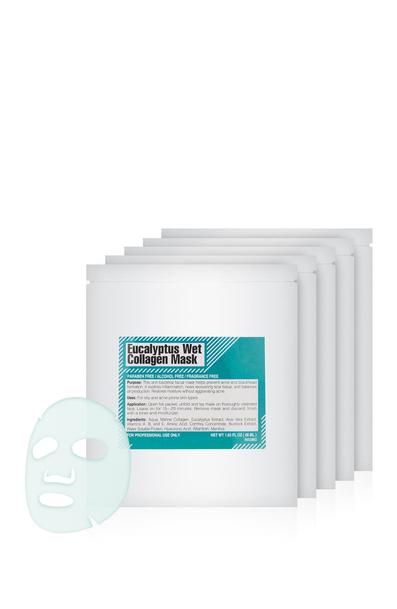 MARTINNI Eucalyptus Wet Collagen Mask - Pack of 5, Main, color, NO COLOR