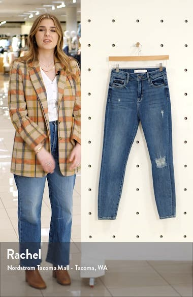 High Rise Super Stretch Skinny Jeans, sales video thumbnail