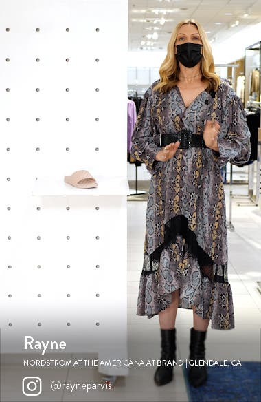 Lusso Quilted Slide Sandal, sales video thumbnail