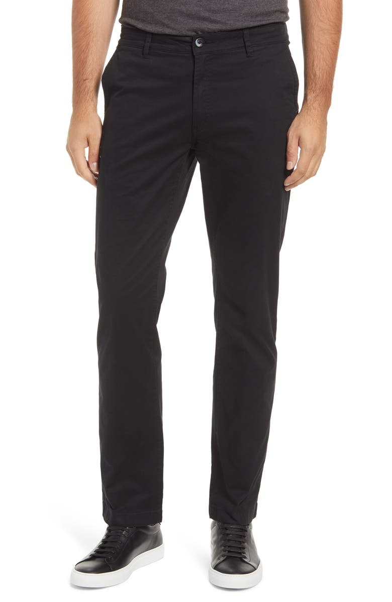 CUTTER & BUCK Voyager Stretch Cotton Chino Pants, Main, color, Black