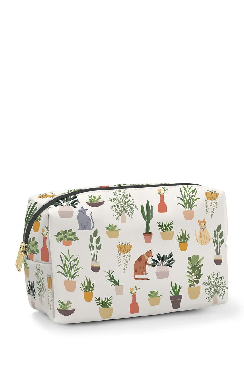 STUDIO OH Plant Addict Cosmetic Loaf Pouch, Main, color, NO COLOR