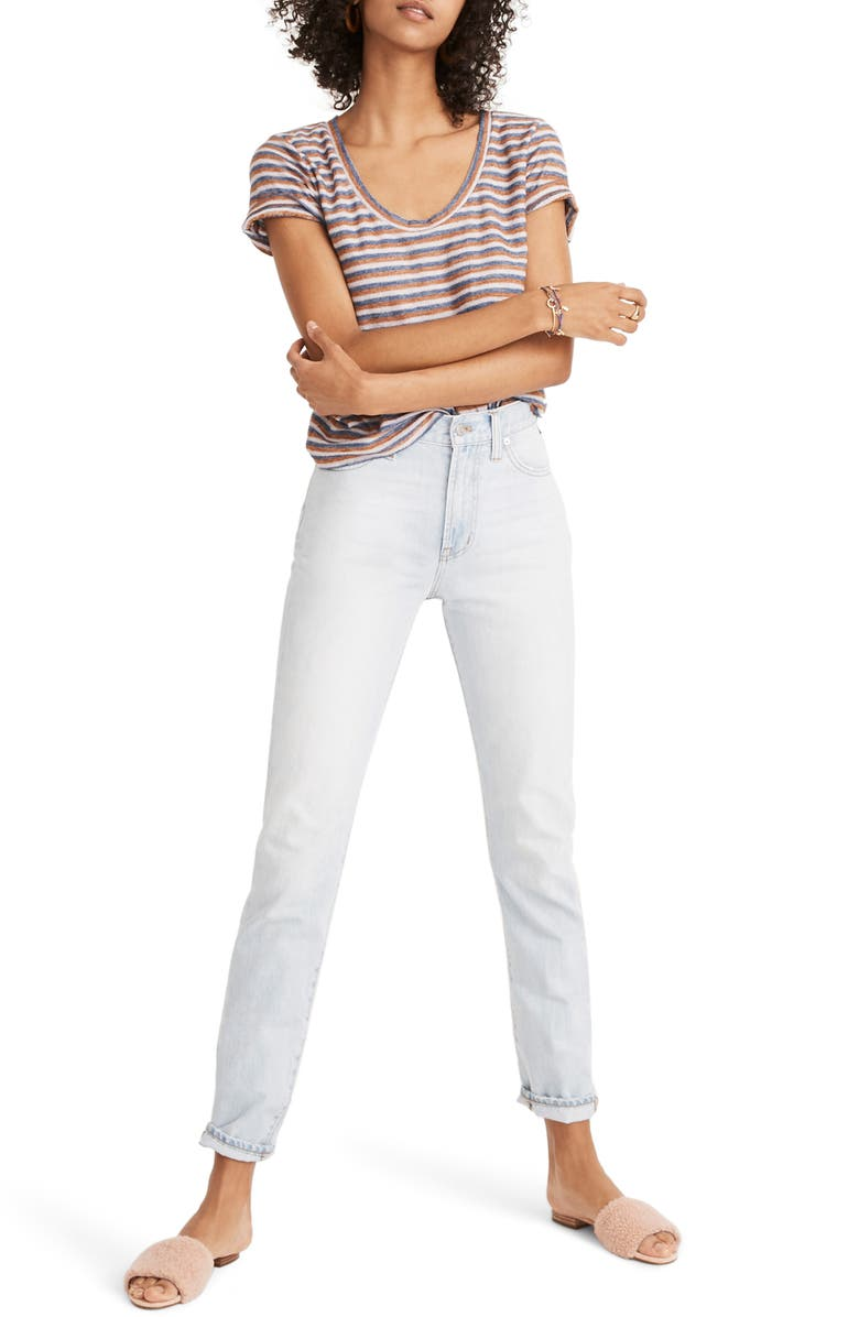 MADEWELL Perfect Summer High Rise Ankle Jeans, Main, color, FITZGERALD WASH