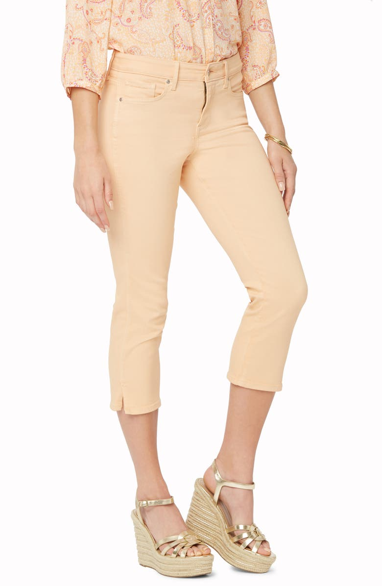 NYDJ Chloe Side Slit Capri Jeans, Main, color, MARISOL MELON