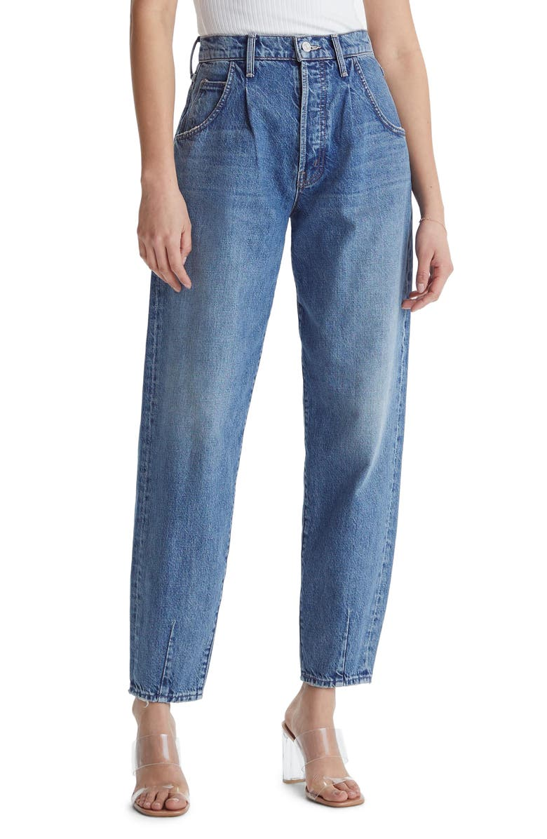 MOTHER The Bounce High Waist Mom Jeans, Main, color, 400