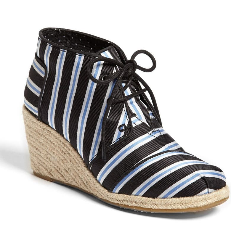 TOMS 'Tabitha Simmons' Wedge Bootie, Main, color, 001