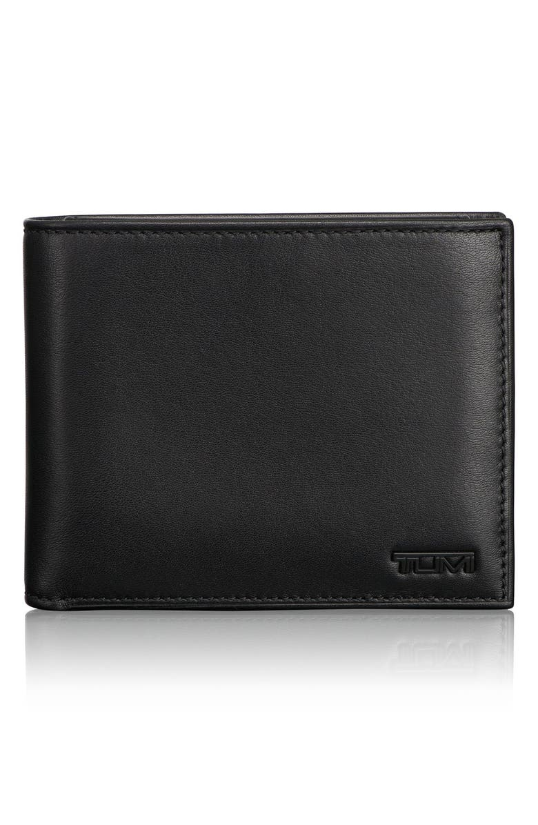 TUMI Delta Global ID Lock<sup>™</sup> Shielded Removable Passcase ID Wallet, Main, color, BLACK