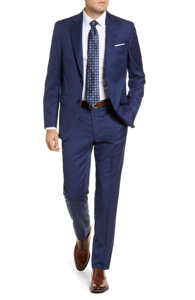 PETER MILLAR Flynn Classic Fit Check Wool Suit, Main, color, 400