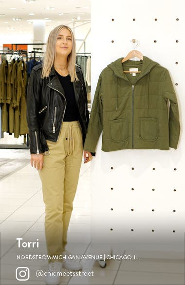 Women's Quilted Zip-Up Hooded Knit Jacket, sales video thumbnail