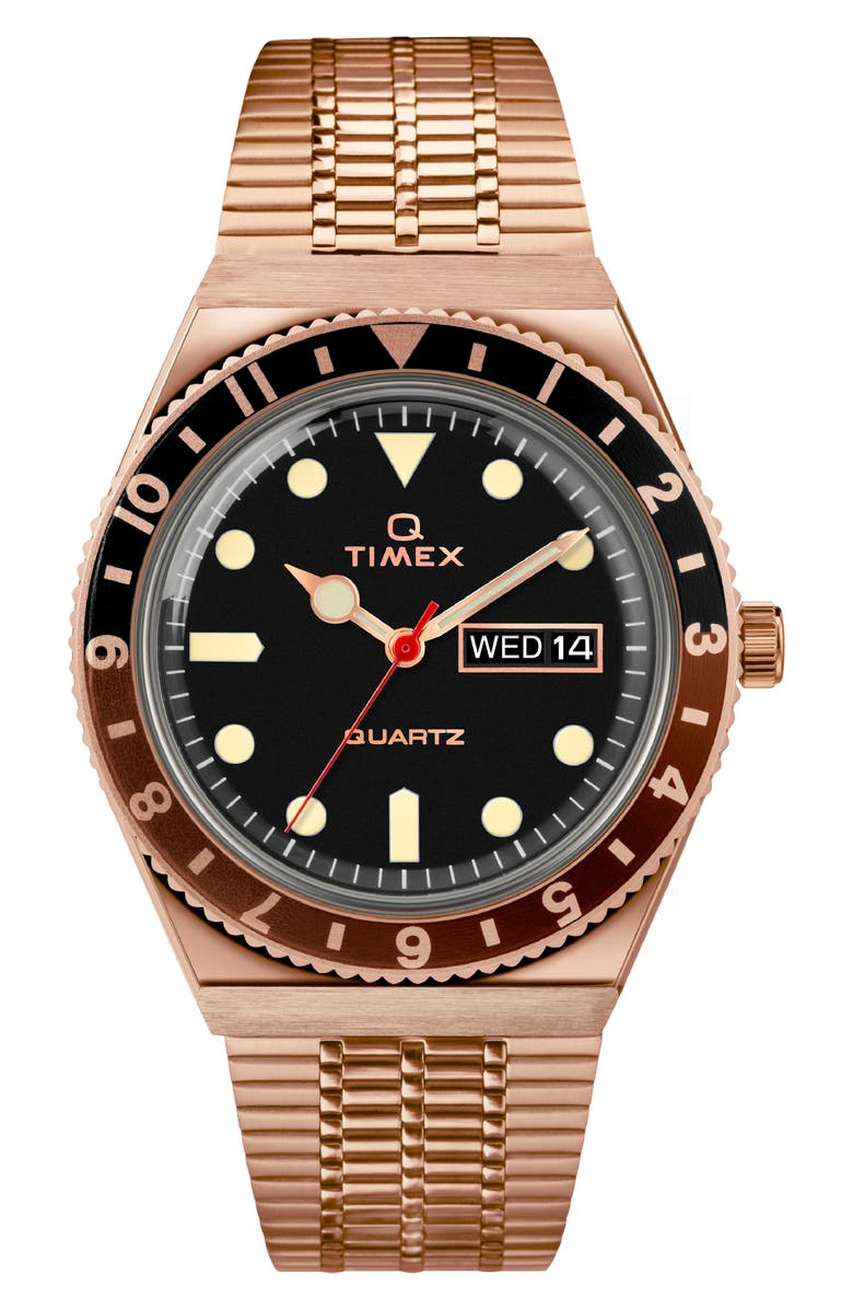 TIMEX<SUP>®</SUP> Color Series Bracelet Watch, 38mm, Main, color, ROSE GOLD