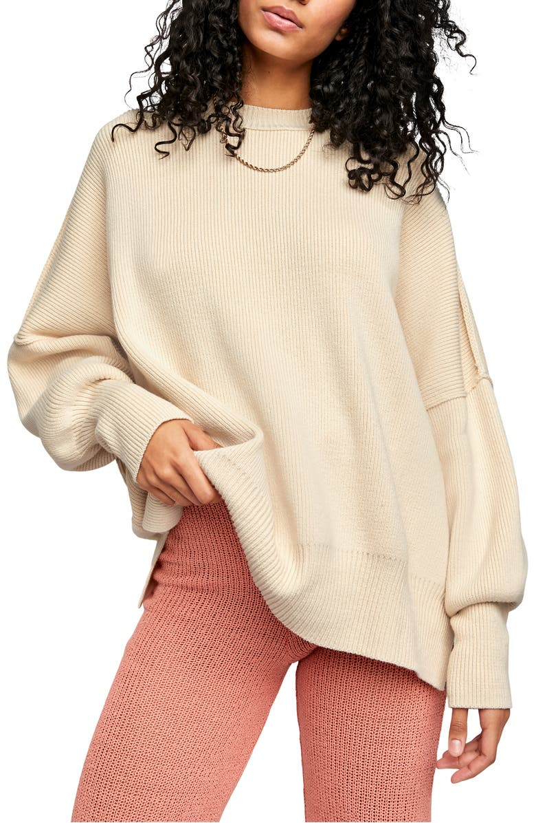 FREE PEOPLE Easy Street Tunic, Main, color, CREAM