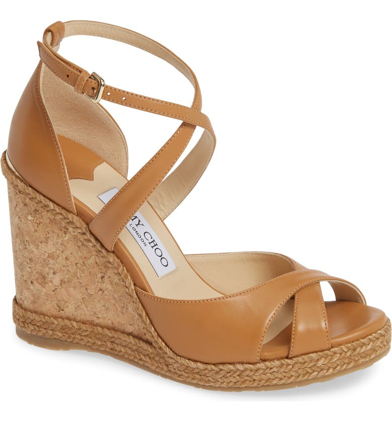 JIMMY CHOO Alanah Espadrille Wedge Sandal, Main, color, 201