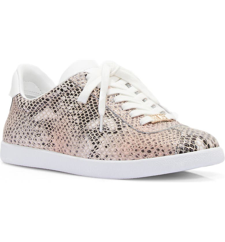 PAIGE Amy Leather Sneaker, Main, color, PINK/ GOLD SNAKE PRINT