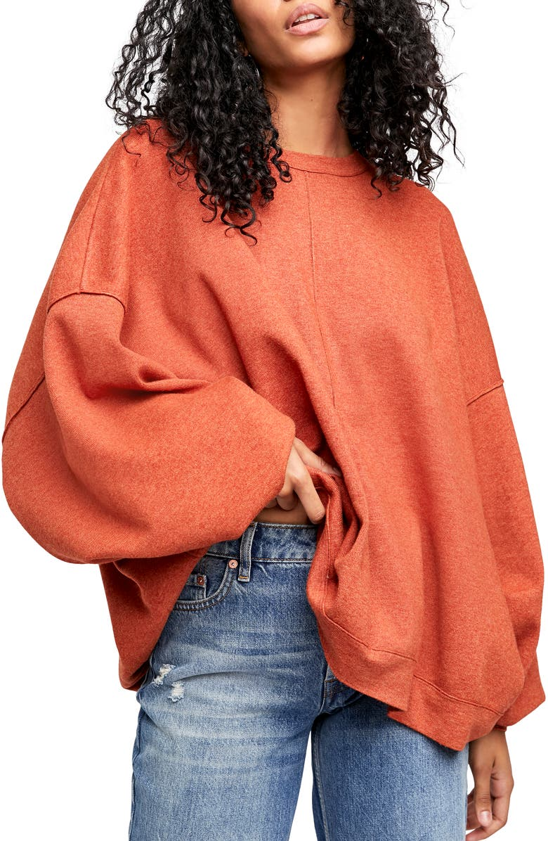 FREE PEOPLE Uptown Pullover, Main, color, SALSA BRAVO