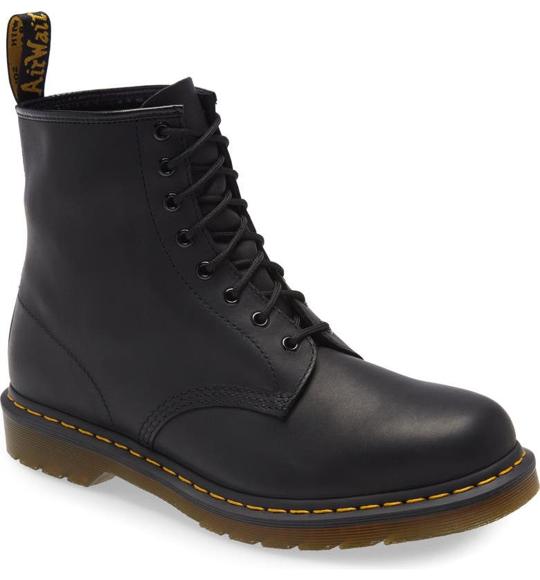 DR. MARTENS '1460' Boot, Main, color, BLACK GREASY LEATHER