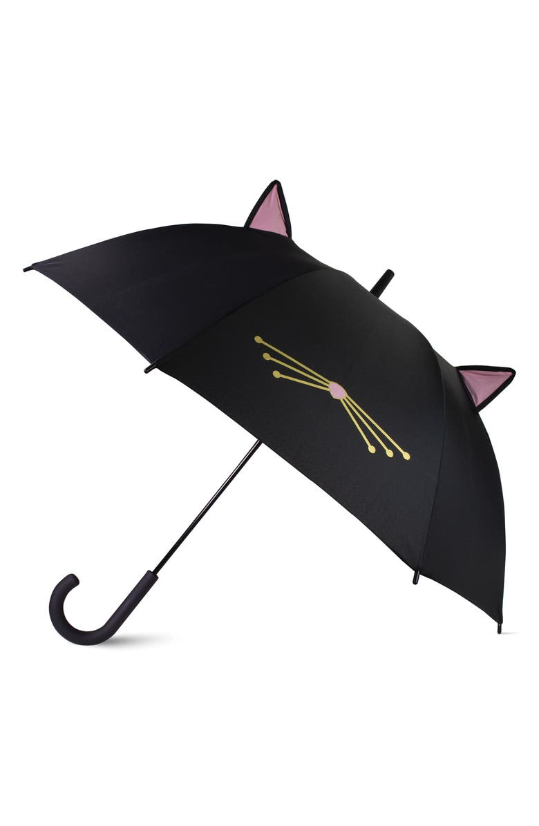 KATE SPADE NEW YORK cat umbrella, Main, color, 001