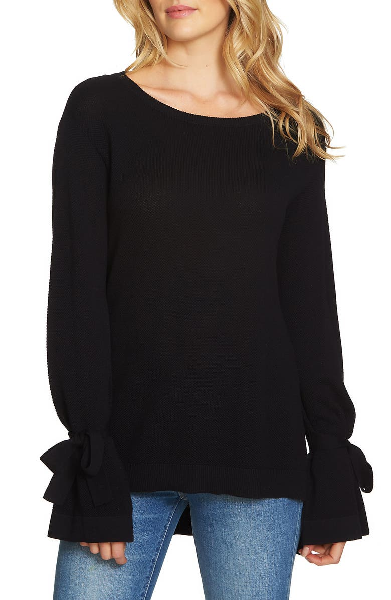 1.STATE Tie Sleeve Sweater, Main, color, 010