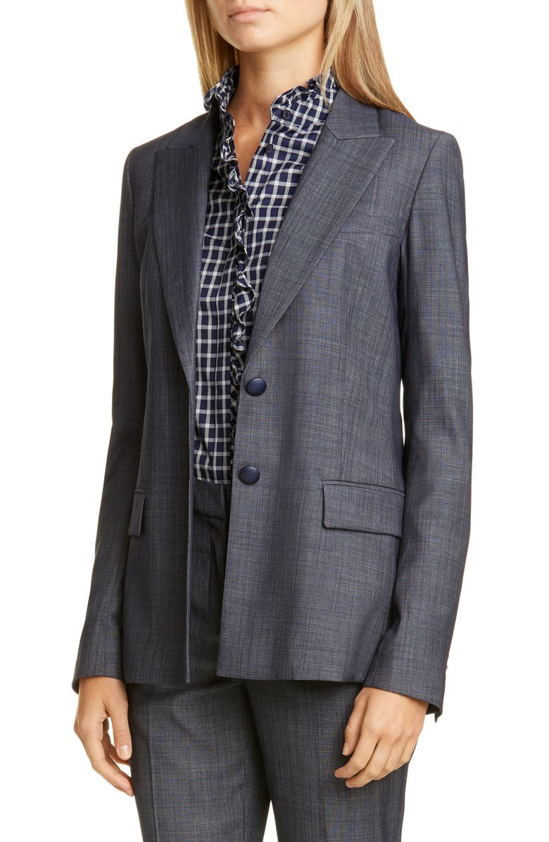 LAFAYETTE 148 NEW YORK Harlow Wool Blend Blazer, Main, color, 400