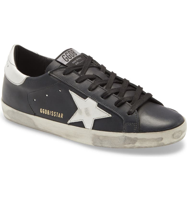 GOLDEN GOOSE Super-Star Sneaker, Main, color, BLACK/ WHITE STAR