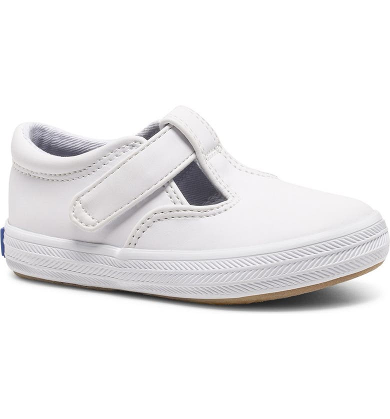 KEDS Addie T-Strap Sneaker, Main, color, WHITE