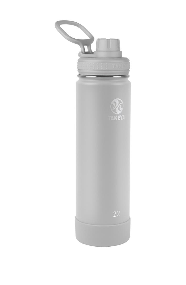TAKEYA Actives Insulated 22 oz. Stainless Steel Bottle with Spout Lid - Pebble, Main, color, PEBBLE