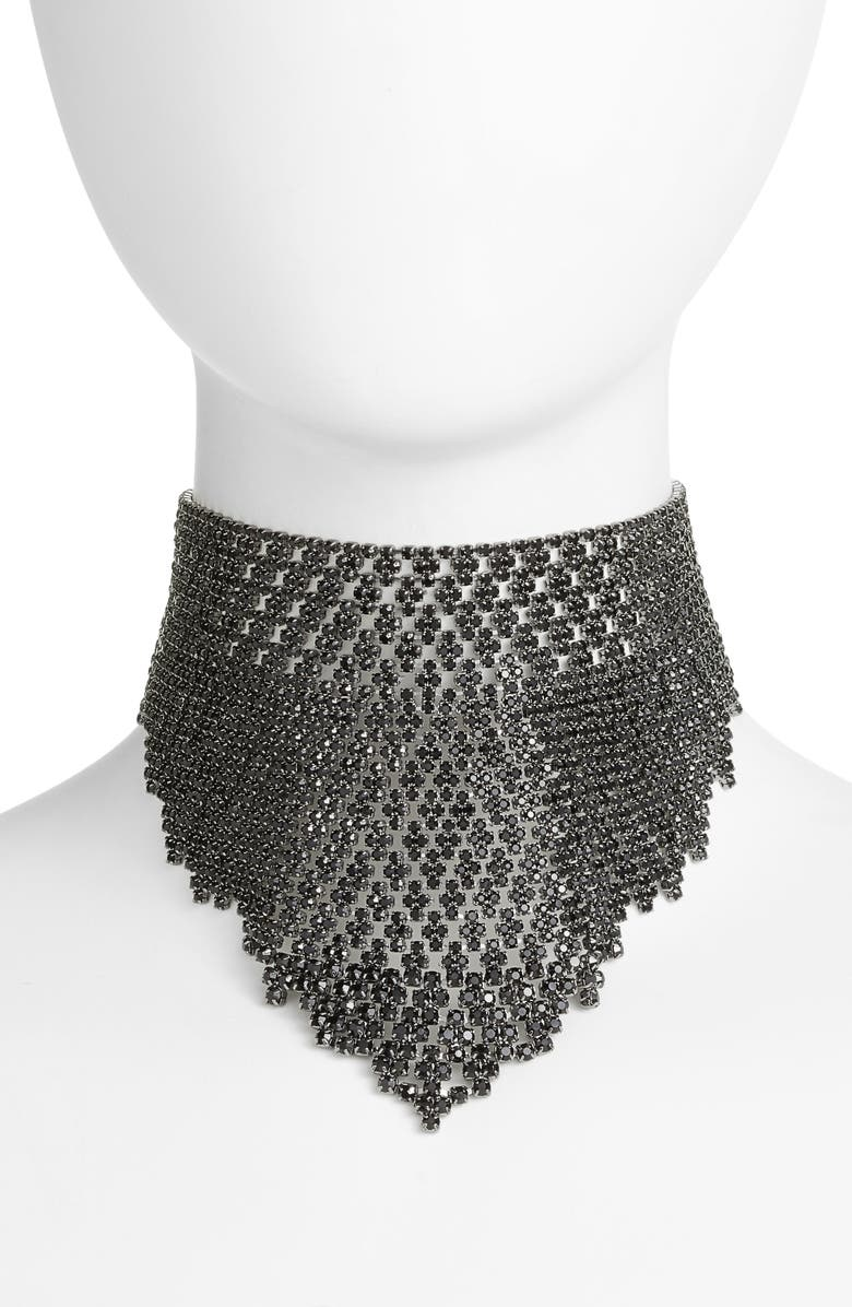 CRISTABELLE Graduated Crystal Choker, Main, color, 001