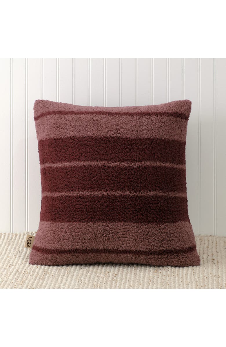 UGG<SUP>®</SUP> Erina Accent Pillow, Main, color, WILD BERRY