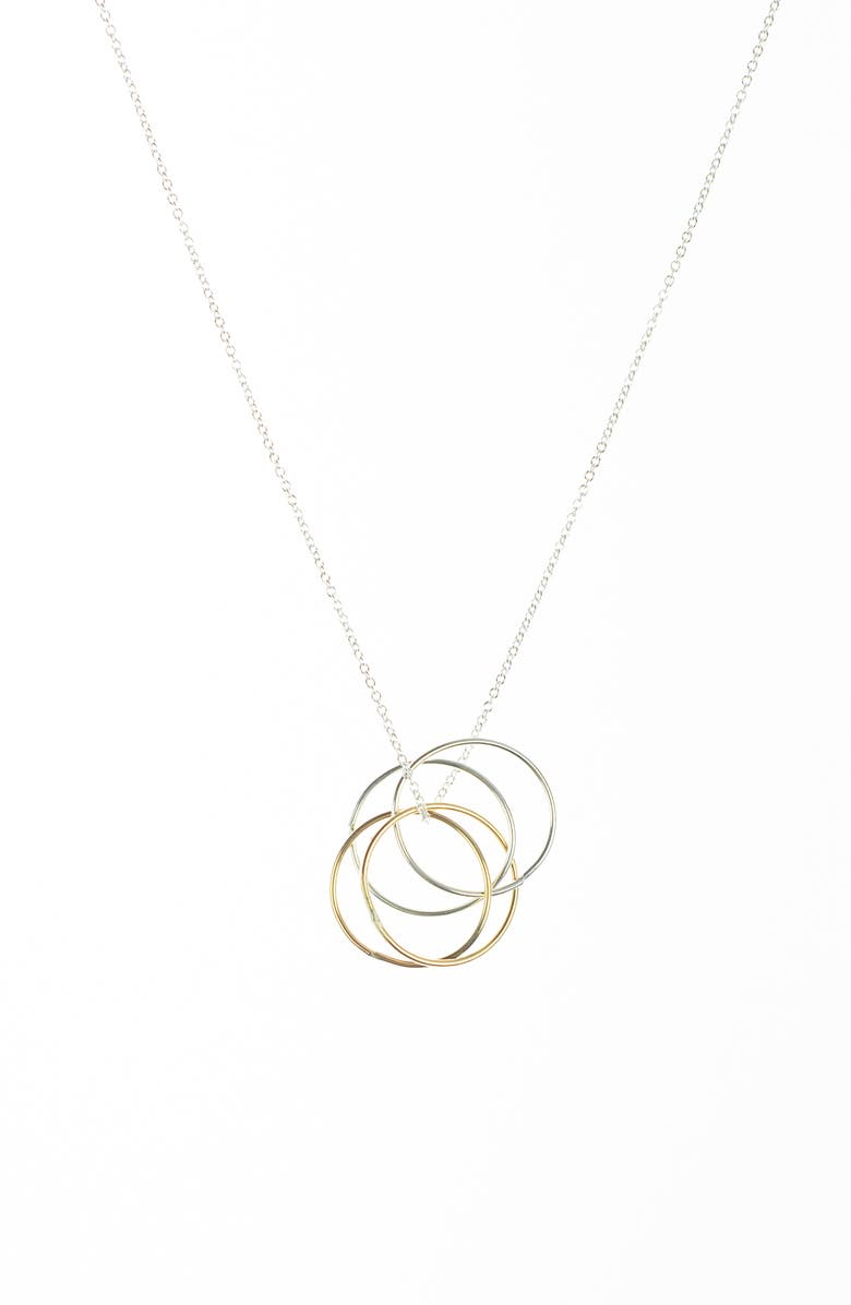 NASHELLE Wellness Pendant Necklace, Main, color, MIXED METALS