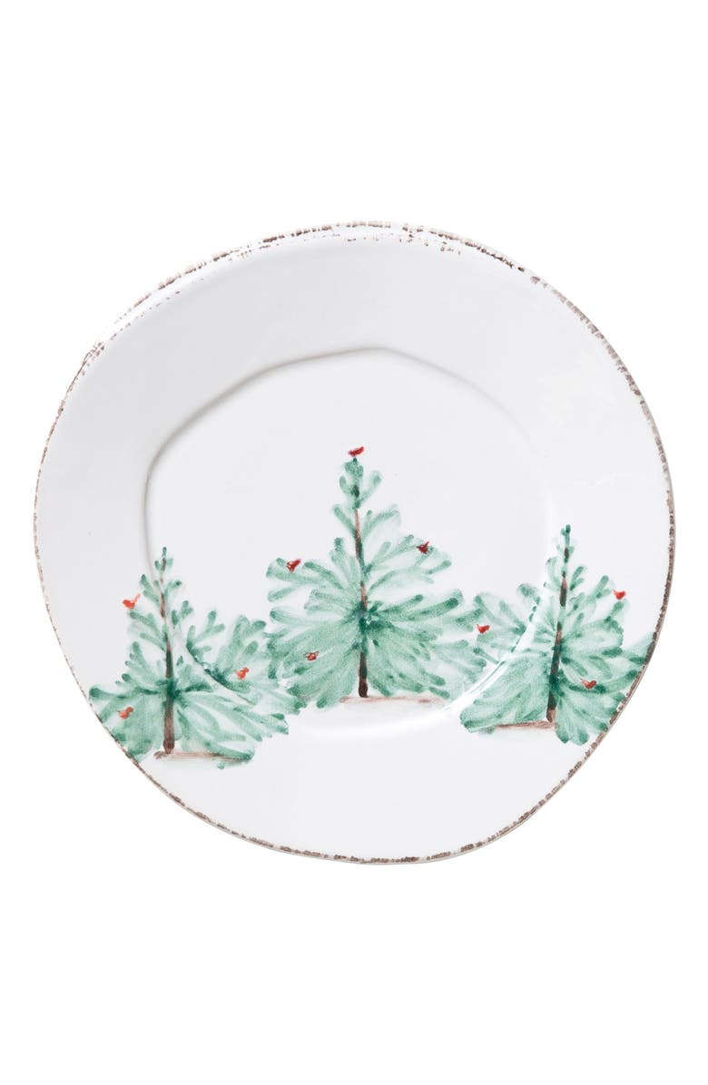 VIETRI Lastra Holiday Salad Plate, Main, color, HAND PAINTED