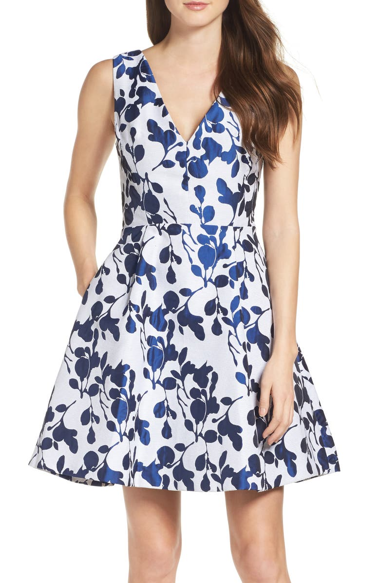 BETSEY JOHNSON Fit & Flare Dress, Main, color, 126