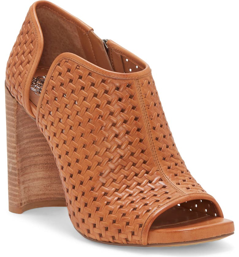 VINCE CAMUTO Prisha Perforated Open Toe Bootie, Main, color, 210