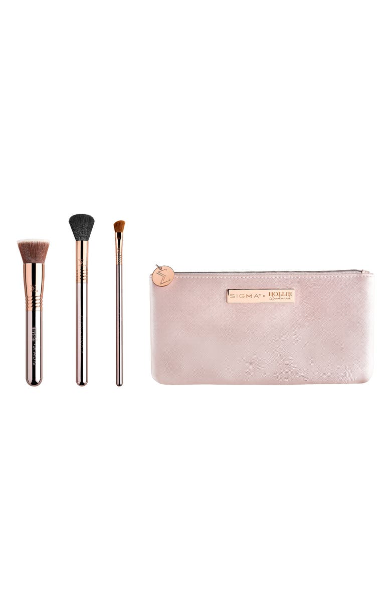 SIGMA BEAUTY x Hollie Woodward On the Glow Brush Set, Main, color, No Color