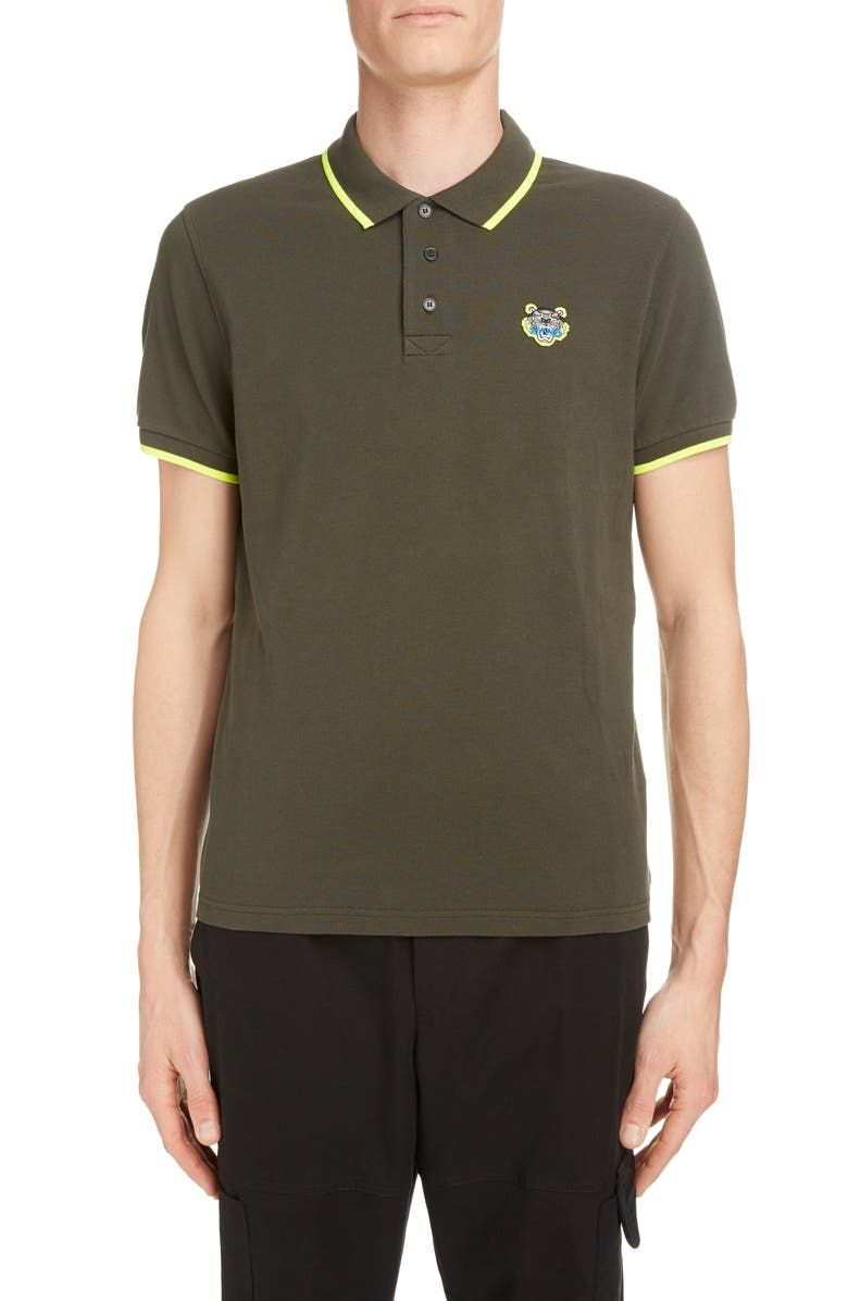 KENZO Marled Cotton Polo, Main, color, 230