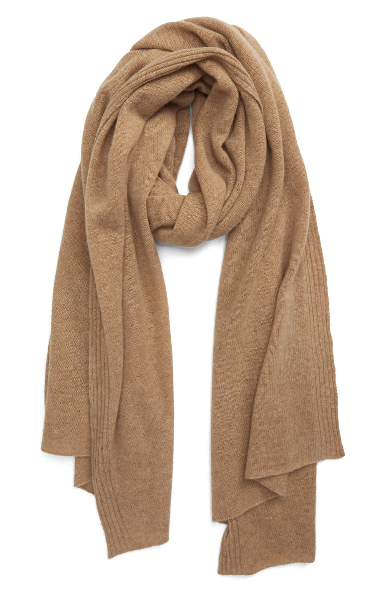 HALOGEN<SUP>®</SUP> Cashmere Scarf, Main, color, TAN INDOCHINE
