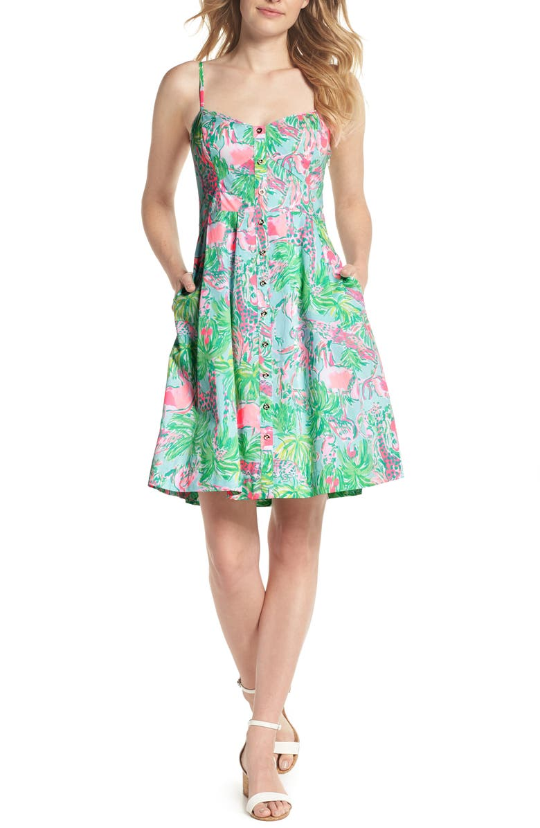 LILLY PULITZER<SUP>®</SUP> Easton Sundress, Main, color, SEASALT BLUE ON PARADE