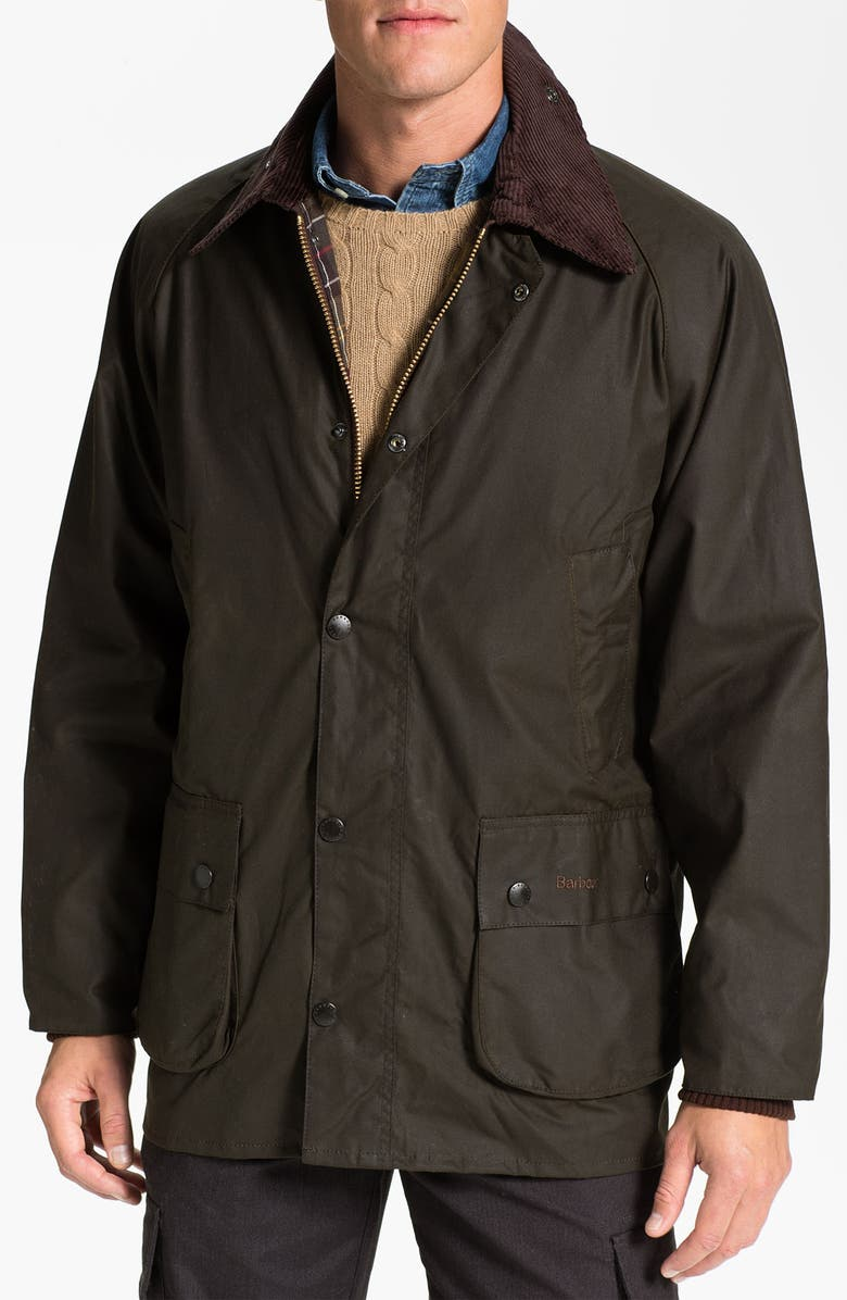 Barbour Bedale Relaxed Fit Waterproof Waxed Cotton Jacket Nordstrom