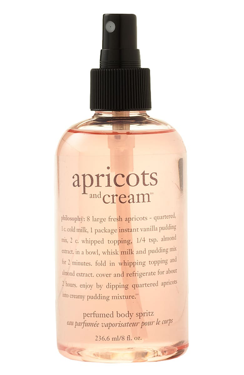 PHILOSOPHY 'apricots and cream' perfumed body spritz, Main, color, 000