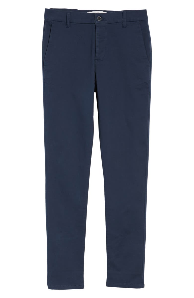 TOPMAN Stretch Skinny Fit Chinos, Main, color, Dark Blue