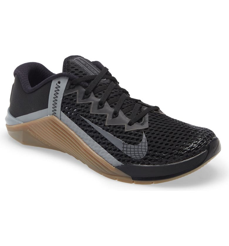 NIKE Metcon 6 Training Shoe, Main, color, GREY FOG/ GREY/ BROWN
