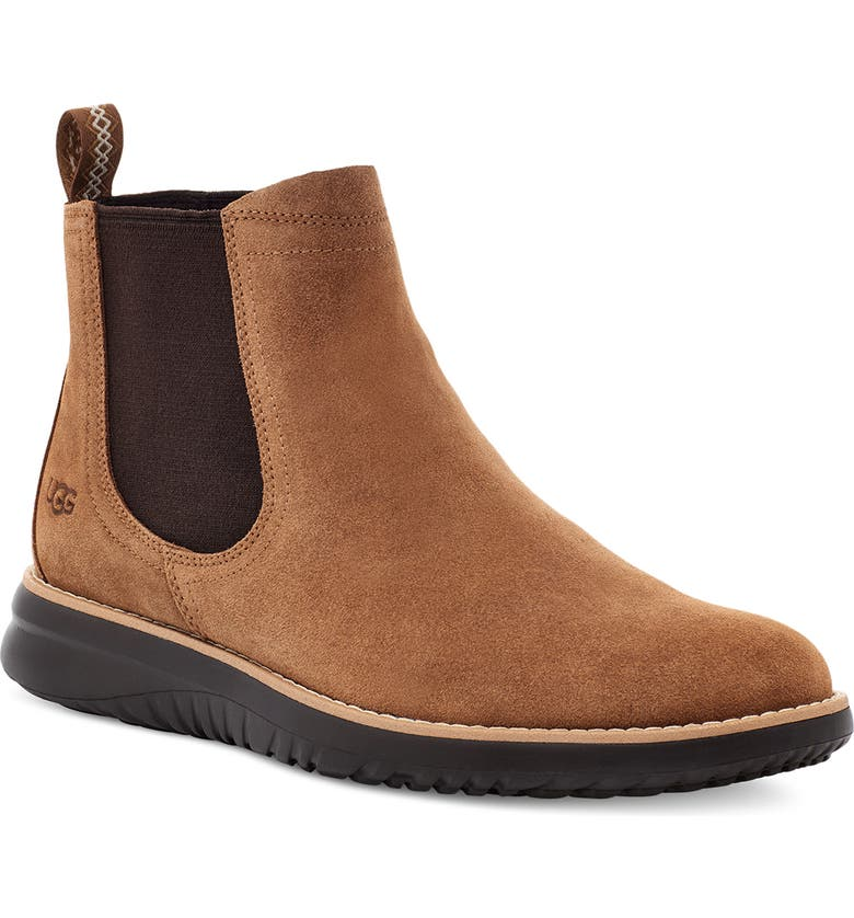 UGG<SUP>®</SUP> Union Waterproof Chelsea Boot, Main, color, CHESTNUT SUEDE