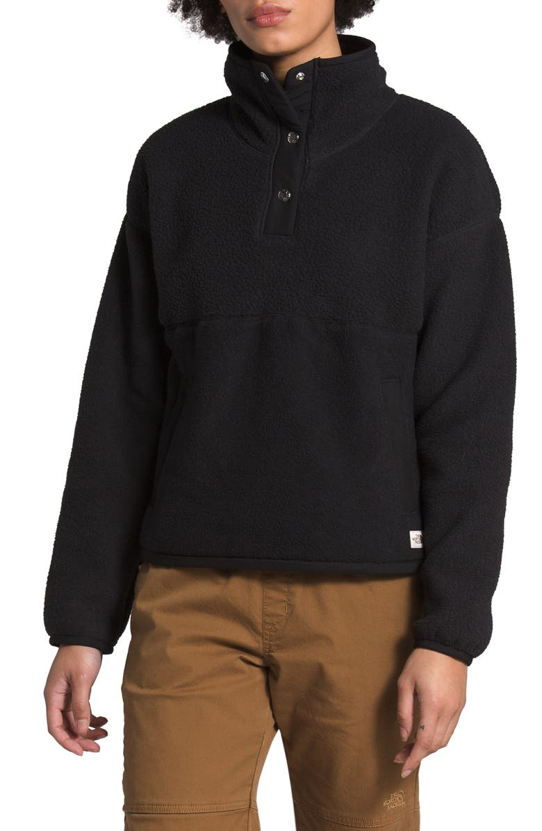 THE NORTH FACE Cragmont Fleece Pullover Jacket, Main, color, 001