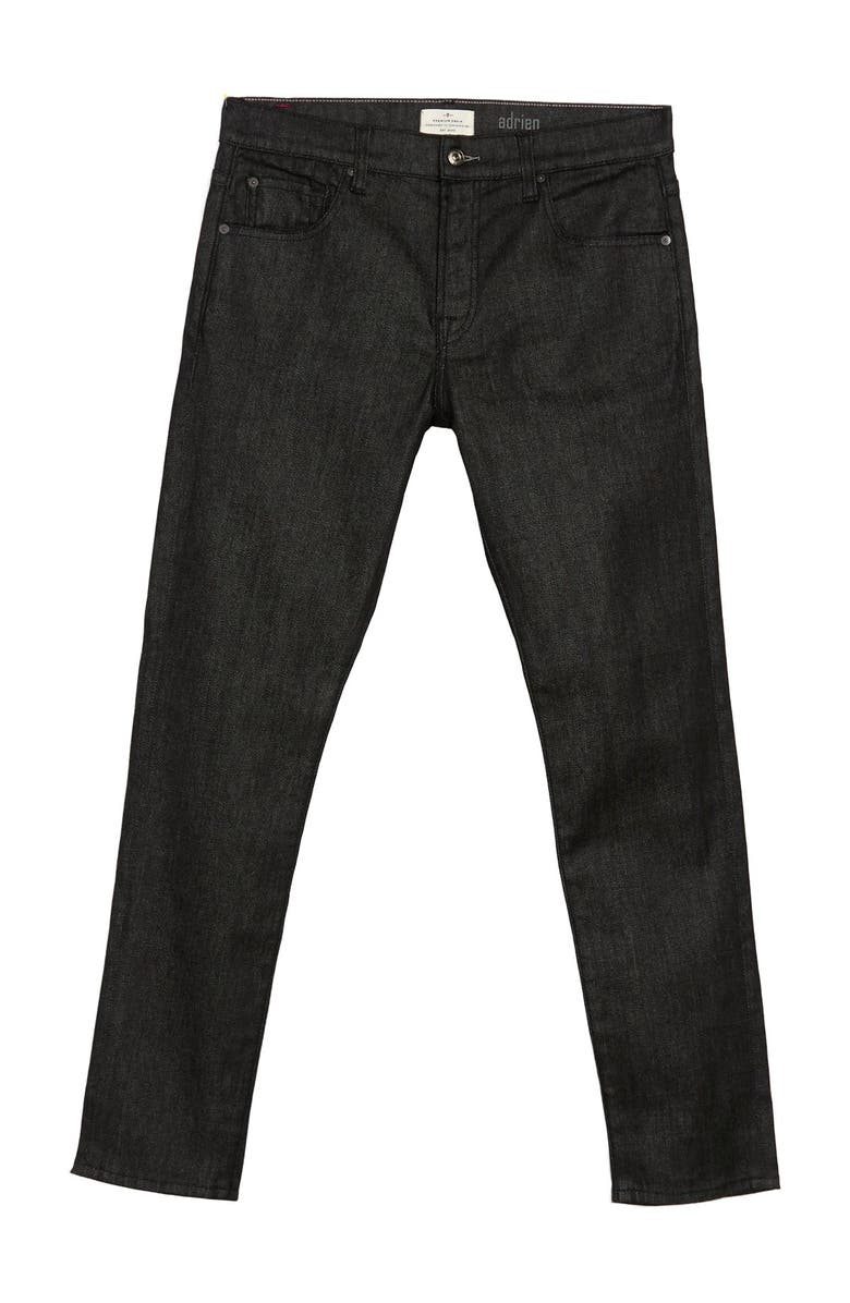 7 FOR ALL MANKIND Adrien Slim Jeans, Main, color, RAW BLACK