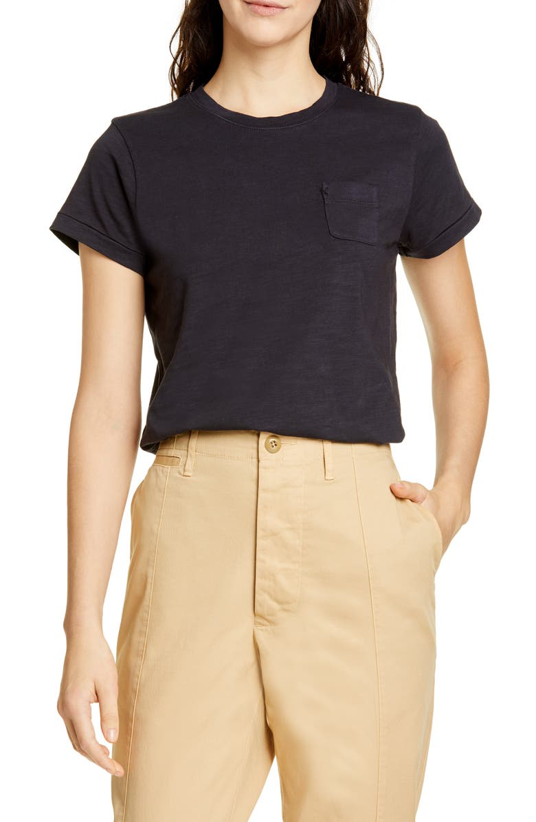 ALEX MILL Slub Pocket Tee, Main, color, 001