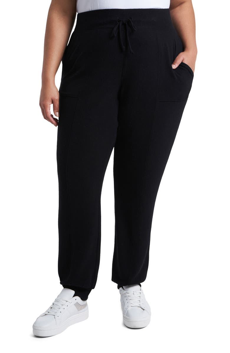 1.STATE Tie Waist Cozy Knit Joggers, Main, color, 001