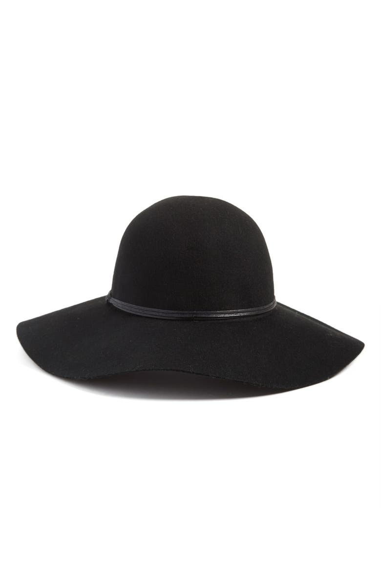 HINGE Floppy Wool Hat, Main, color, 001